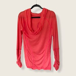 Zella Coral Pink All Shirred Up Activewear Top 487